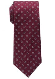 ETERNA TIE BORDEAUX PATTERNED