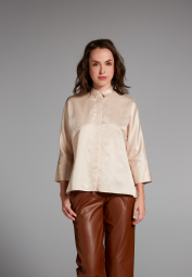3/4 SLEEVE BLOUSE 1863 BY ETERNA - PREMIUM BEIGE UNI