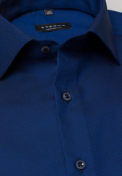 ETERNA HALF SLEEVE SHIRT COMFORT FIT NAVY BLUE STRUCTURED