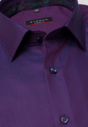 ETERNA LONG SLEEVE SHIRT MODERN FIT TWILL VIOLET STRUCTURED