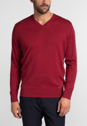 ETERNA KNIT SWEATER WITH V-NECK CARMINE RED UNI