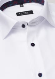 ETERNA LONG SLEEVE SHIRT COMFORT FIT TWILL WHITE STRUCTURED