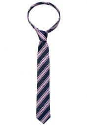ETERNA TIE BORDEAUX STRIPED