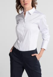 ETERNA LONG SLEEVE BLOUSE FOR TALL WOMEN MODERN CLASSIC WHITE UNI