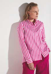 ETERNA LONG SLEEVE BLOUSE MODERN CLASSIC PINK / WHITE STRIPED