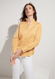 ETERNA LONG SLEEVE BLOUSE MODERN CLASSIC GOLDEN YELLOW PRINTED