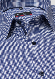 ETERNA LONG SLEEVE SHIRT MODERN FIT TWILL BLUE/WHITE CHECKED