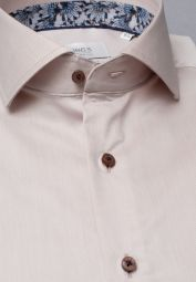 ETERNA LONG SLEEVE SHIRT MODERN FIT GENTLE SHIRT TWILL BEIGE UNI