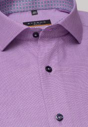 ETERNA LONG SLEEVE SHIRT SLIM FIT STRUCTURE ORCHID STRUCTURED