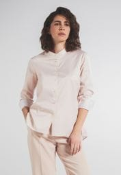 LONG SLEEVE BLOUSE 1863 BY ETERNA - PREMIUM TWILL BEIGE UNI