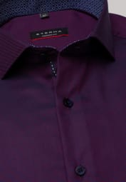 ETERNA LONG SLEEVE SHIRT MODERN FIT TWILL RED/BLUE STRUCTURED