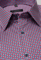 ETERNA LONG SLEEVE SHIRT COMFORT FIT TWILL RED/BLUE PRINTED