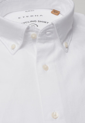 ETERNA LONG SLEEVE SHIRT SLIM FIT UPCYCLING SHIRT OXFORD WHITE UNI
