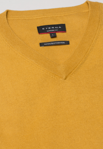 ETERNA KNIT SWEATER MODERN FIT WITH V-NECK YELLOW UNI