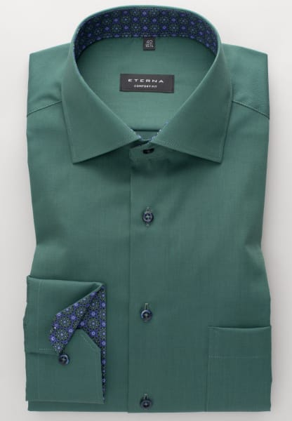 ETERNA LONG SLEEVE SHIRT COMFORT FIT PINPOINT HUNTER GREEN UNI