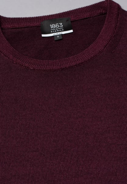 ETERNA KNIT SWEATER WITH ROUND NECK BURGUNDY RED UNI