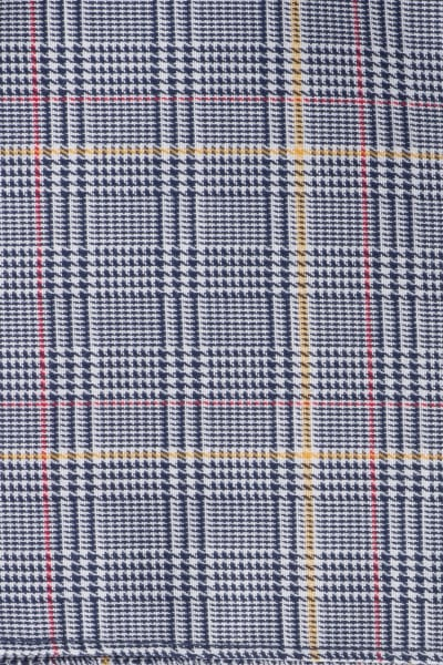 ETERNA POCKET SQUARE NAVY CHECKED
