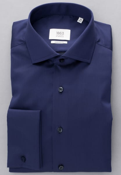 ETERNA LONG SLEEVE SHIRT MODERN FIT GENTLE SHIRT TWILL NAVY BLUE UNI