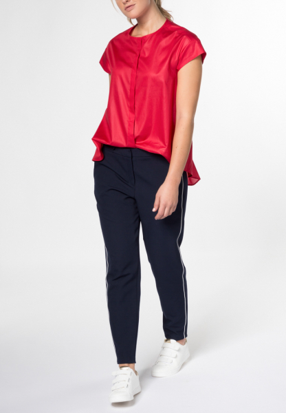HALF SLEEVE BLOUSE 1863 BY ETERNA - PREMIUM POPLIN RED UNI