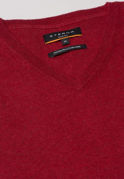 ETERNA KNIT SWEATER WITH V-NECK RED UNI