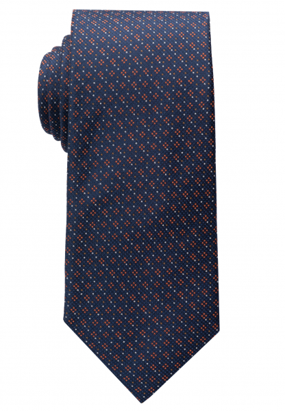 ETERNA TIE TERRACOTTA / BLUE PATTERNED