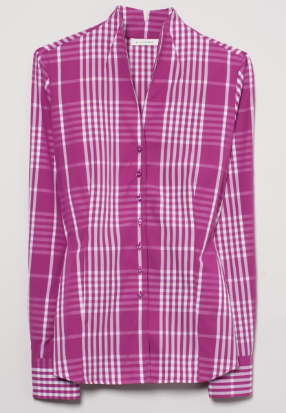 ETERNA LONG SLEEVE BLOUSE MODERN CLASSIC POPLIN PINK / WHITE CHECKED