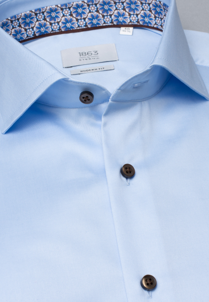 ETERNA LONG SLEEVE SHIRT MODERN FIT GENTLE SHIRT TWILL LIGHT BLUE UNI