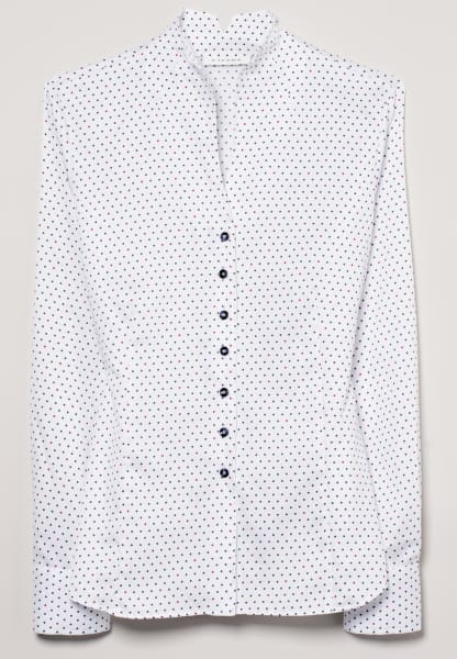 ETERNA LONG SLEEVE BLOUSE MODERN CLASSIC WHITE / BLUE / PINK PRINTED