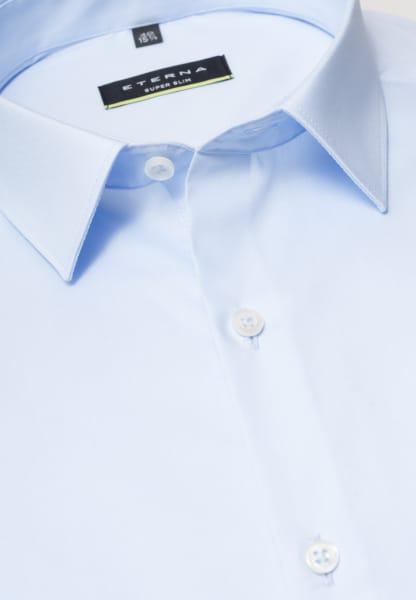ETERNA LONG SLEEVE SHIRT SUPER-SLIM STRETCH LIGHT BLUE UNI