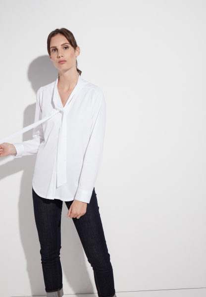ETERNA LONG SLEEVE BLOUSE MODERN CLASSIC JERSEY WHITE UNI