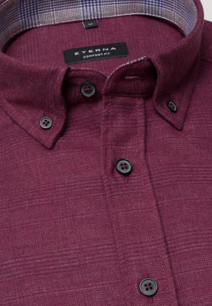 ETERNA LONG SLEEVE SHIRT COMFORT FIT FLANEL BURGUNDY UNI