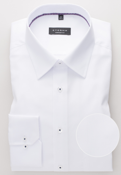 ETERNA LONG SLEEVE SHIRT COMFORT FIT PINPOINT WHITE UNI
