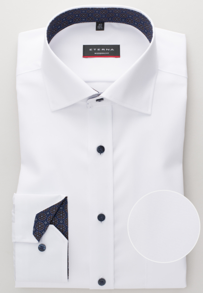 ETERNA LONG SLEEVE SHIRT MODERN FIT POPLIN WHITE UNI