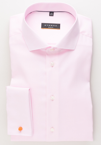 ETERNA LONG SLEEVE SHIRT SLIM FIT PINPOINT ROSE UNI