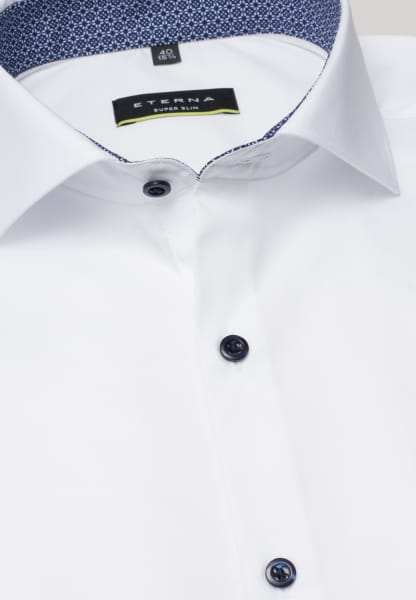 ETERNA LONG SLEEVE SHIRT SUPER-SLIM STRETCH WHITE UNI