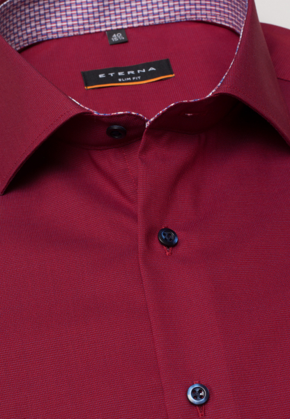 ETERNA LONG SLEEVE SHIRT SLIM FIT FANCY WEAVE RUST RED UNI