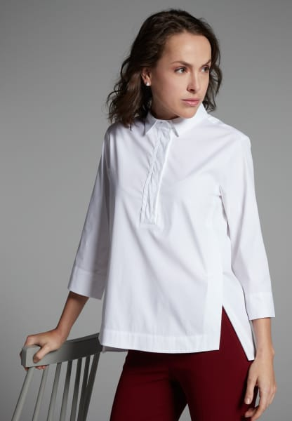 3/4 SLEEVE BLOUSE 1863 BY ETERNA - PREMIUM STRETCH WHITE UNI