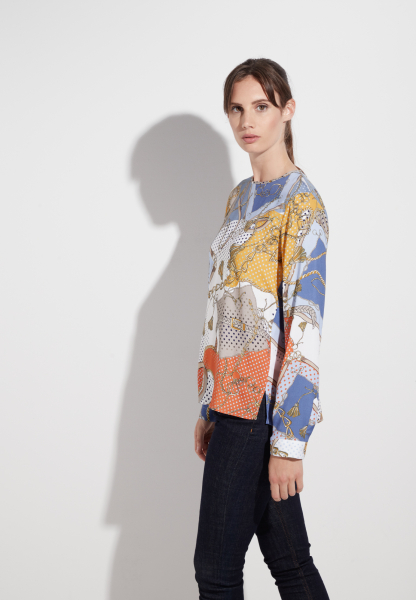 ETERNA LONG SLEEVE BLOUSE MODERN CLASSIC VISKOSE COLORFUL PRINTED