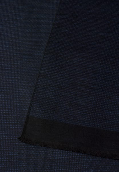 ETERNA SCARF BLACK/BLUE STRUCTURED