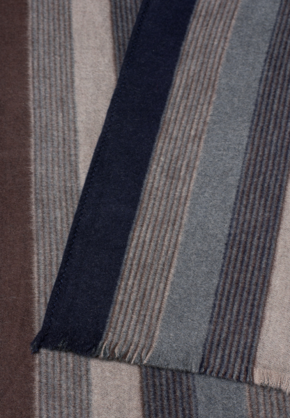 ETERNA SCARF navy / brown STRIPED