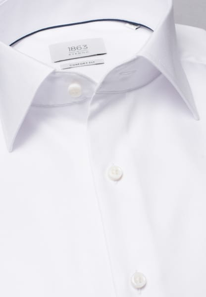ETERNA LONG SLEEVE SHIRT COMFORT FIT HERRINGBONE WHITE UNI