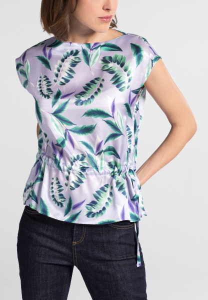 WITHOUT SLEEVES BLOUSE 1863 BY ETERNA - PREMIUM PURPLE / GREEN PRINTED