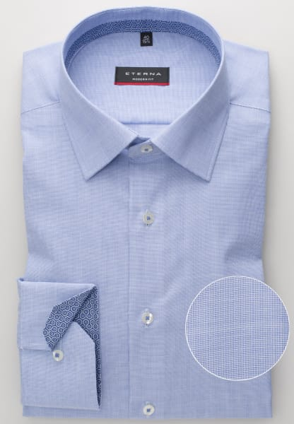 ETERNA LONG SLEEVE SHIRT MODERN FIT PINPOINT BLUE UNI